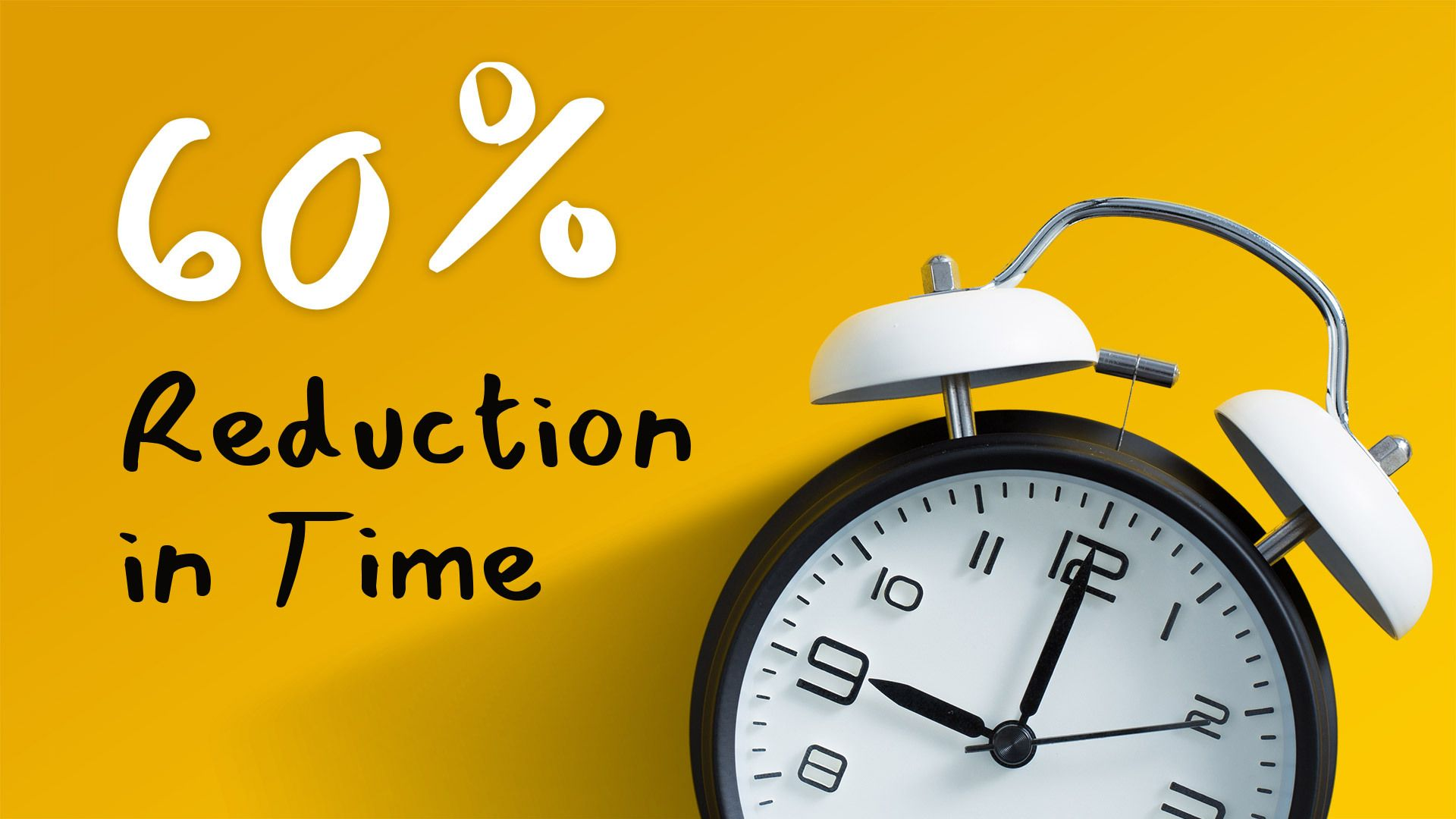 60% Reduction in Time