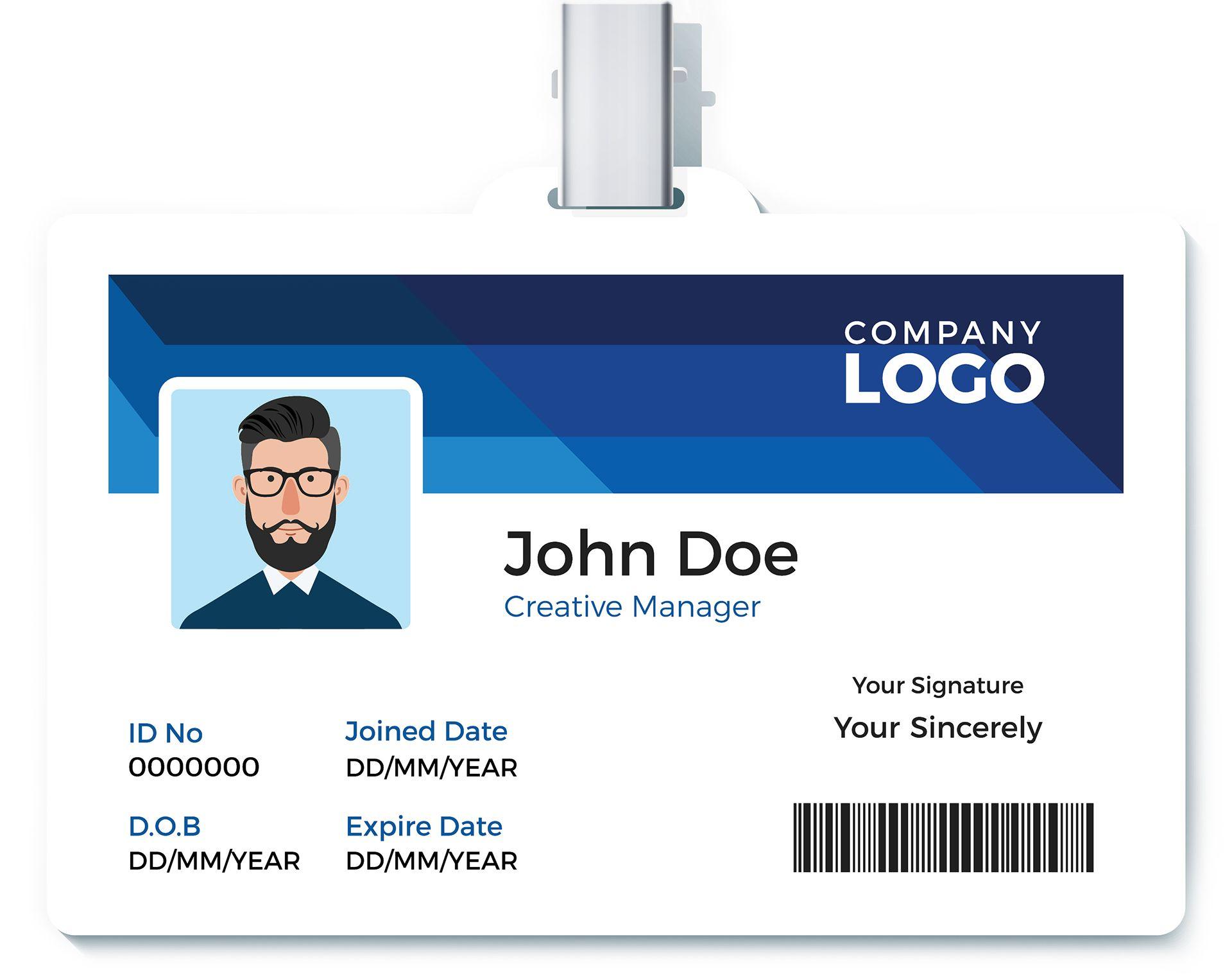 employee ID badge