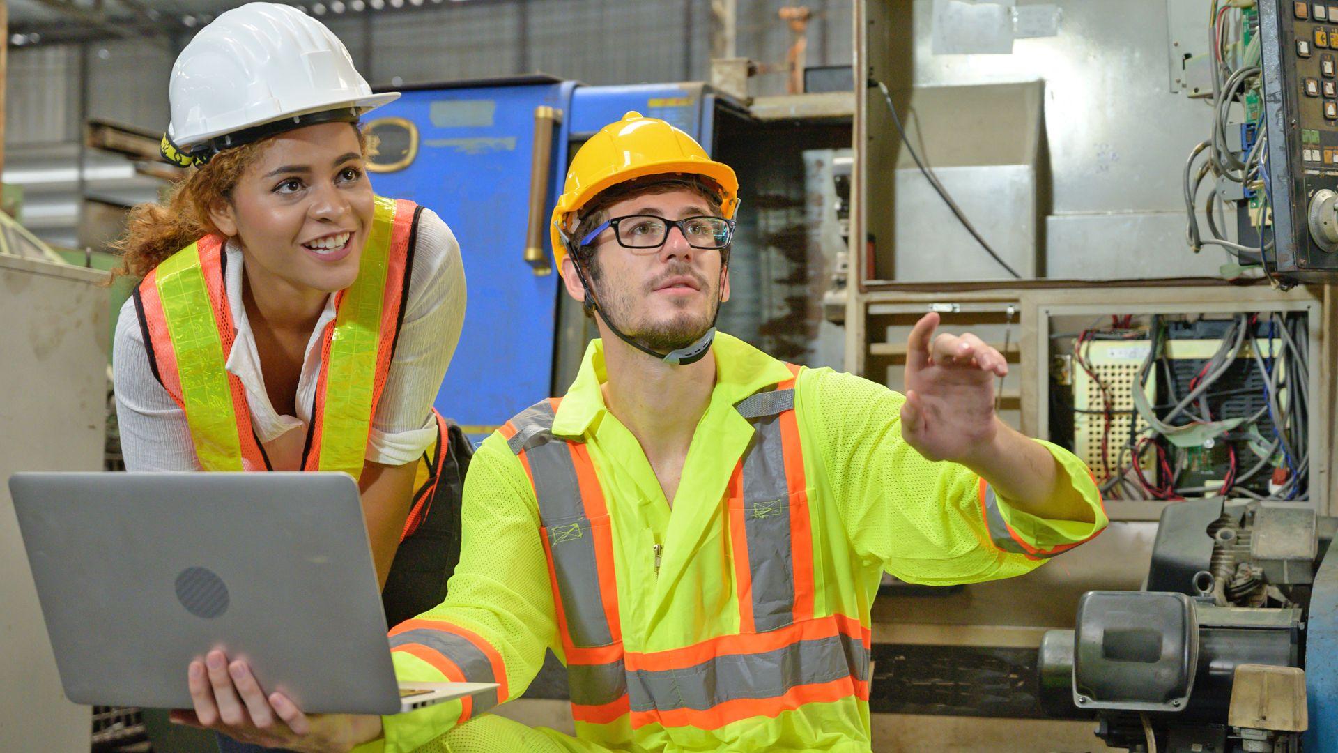 Shop Floor workers collaborating