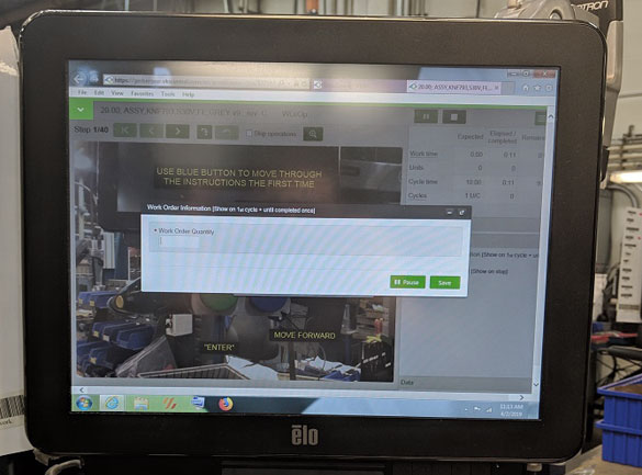 VKS on screen